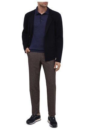 Мужской шерстяной пиджак DANIELE FIESOLI темно-синего цвета, арт. DF 0114   Фото 2
