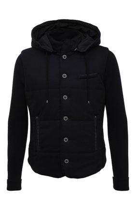 Мужская шерстяная куртка GRAN SASSO темно-синего цвета, арт. 23191/51303 | Фото 1 (Материал внешний: Шерсть; Материал подклада: Синтетический материал; Длина (верхняя одежда): Короткие; Рукава: Длинные; Стили: Кэжуэл; Кросс-КТ: Куртка; Мужское Кросс-КТ: шерсть и кашемир)
