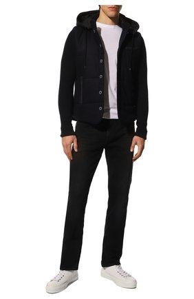 Мужская шерстяная куртка GRAN SASSO темно-синего цвета, арт. 23191/51303 | Фото 2 (Материал внешний: Шерсть; Материал подклада: Синтетический материал; Длина (верхняя одежда): Короткие; Рукава: Длинные; Стили: Кэжуэл; Кросс-КТ: Куртка; Мужское Кросс-КТ: шерсть и кашемир)