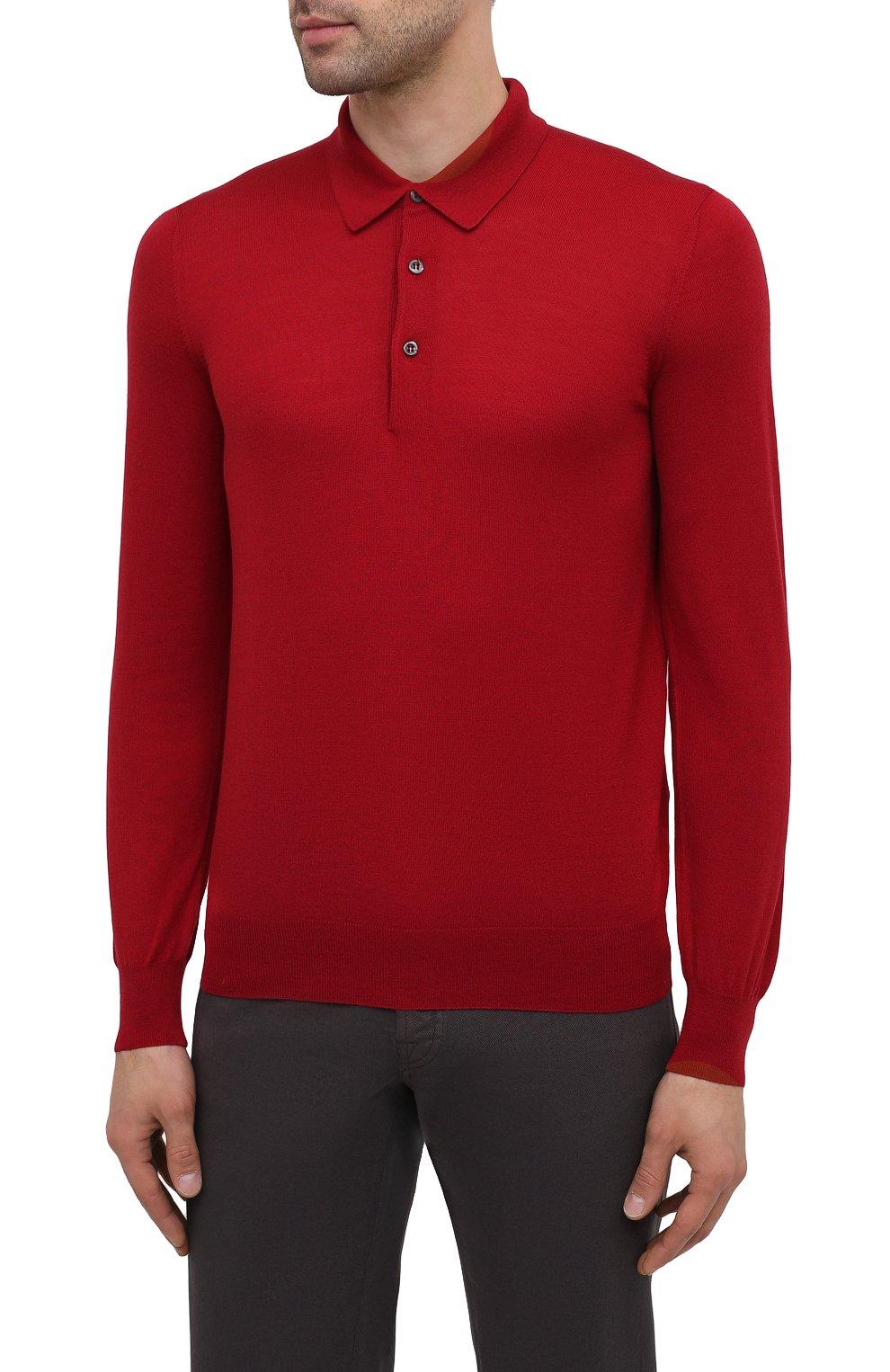 Мужское шерстяное поло GRAN SASSO красного цвета, арт. 45132/14790 | Фото 3