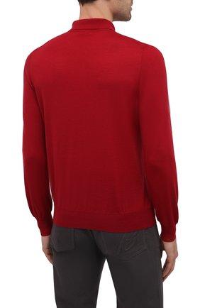 Мужское шерстяное поло GRAN SASSO красного цвета, арт. 45132/14790 | Фото 4