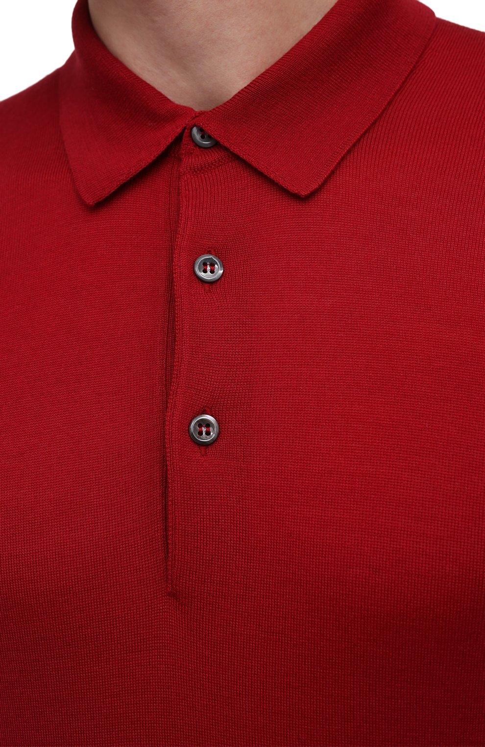 Мужское шерстяное поло GRAN SASSO красного цвета, арт. 45132/14790 | Фото 5