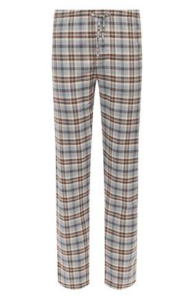 Мужские домашние брюки из хлопка и шерсти ZIMMERLI серого цвета, арт. 4600-75180 | Фото 1