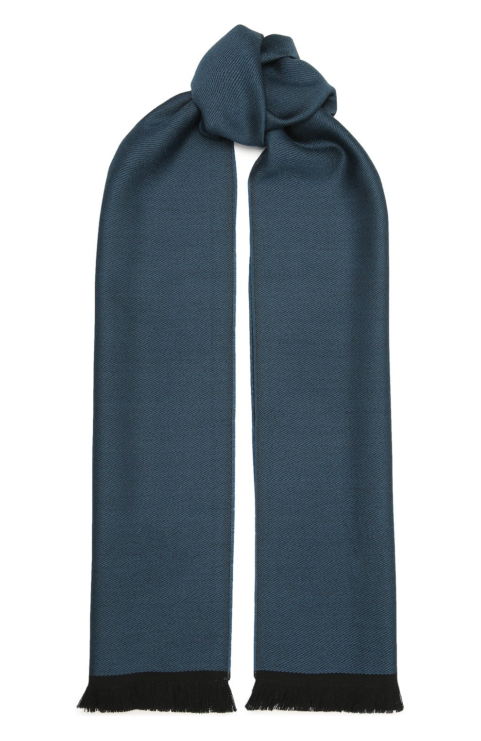 Мужской шерстяной шарф CANALI темно-зеленого цвета, арт. 06/TY00175   Фото 1