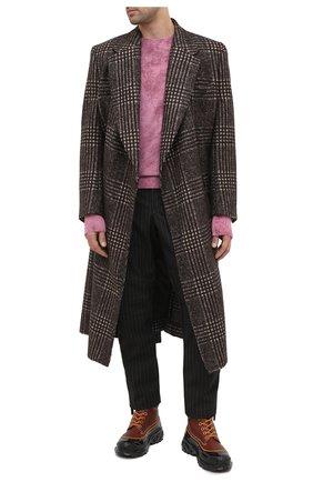 Мужские кожаные ботинки BURBERRY коричневого цвета, арт. 8031085 | Фото 2