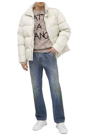 Мужской шерстяной свитер DOLCE & GABBANA бежевого цвета, арт. GXC48Z/JAM08   Фото 2