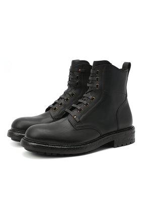 Мужские кожаные ботинки bernini DOLCE & GABBANA черного цвета, арт. A60331/AW374 | Фото 1