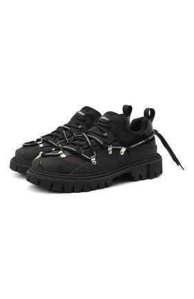 Мужские комбинированные ботинки hi trekking DOLCE & GABBANA черного цвета, арт. CS1813/AW200 | Фото 1