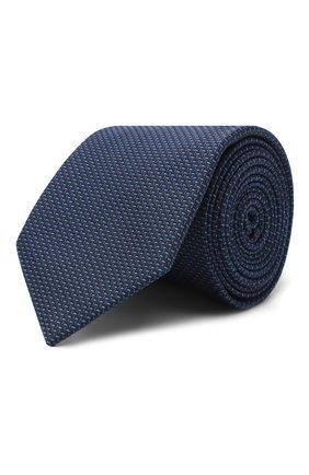 Мужской галстук из хлопка и шелка VAN LAACK синего цвета, арт. LUIS-EL/K04108 | Фото 1