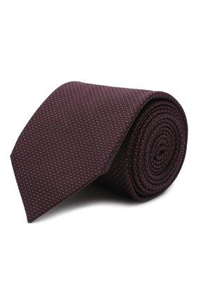 Мужской галстук из хлопка и шелка VAN LAACK фиолетового цвета, арт. LUIS-EL/K04108 | Фото 1