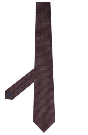 Мужской галстук из хлопка и шелка VAN LAACK фиолетового цвета, арт. LUIS-EL/K04108 | Фото 2