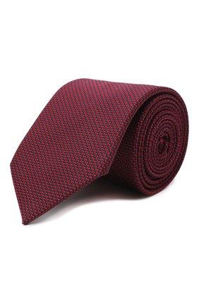 Мужской галстук из хлопка и шелка VAN LAACK красного цвета, арт. LUIS-EL/K04108   Фото 1