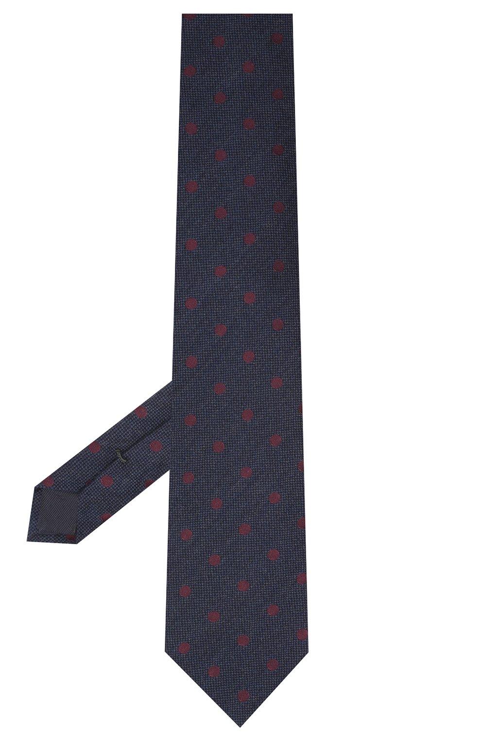 Мужской галстук из шерсти и хлопка VAN LAACK темно-синего цвета, арт. LUIS-EL/K04107 | Фото 2