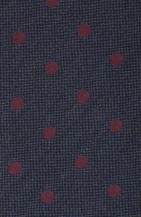 Мужской галстук из шерсти и хлопка VAN LAACK темно-синего цвета, арт. LUIS-EL/K04107 | Фото 3
