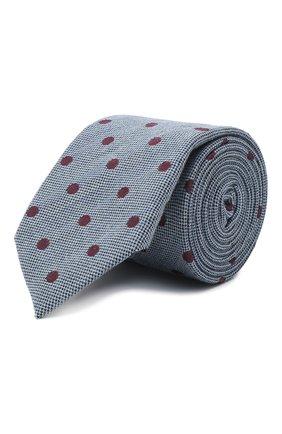 Мужской галстук из шерсти и хлопка VAN LAACK голубого цвета, арт. LUIS-EL/K04107 | Фото 1