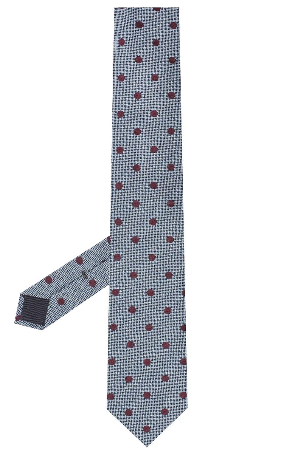 Мужской галстук из шерсти и хлопка VAN LAACK голубого цвета, арт. LUIS-EL/K04107 | Фото 2