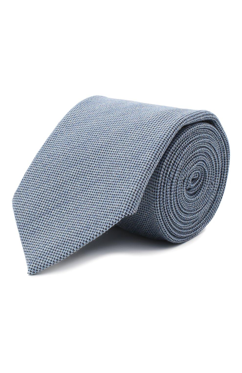 Мужской галстук из шелка и шерсти VAN LAACK голубого цвета, арт. LUIS-EL/K04102 | Фото 1