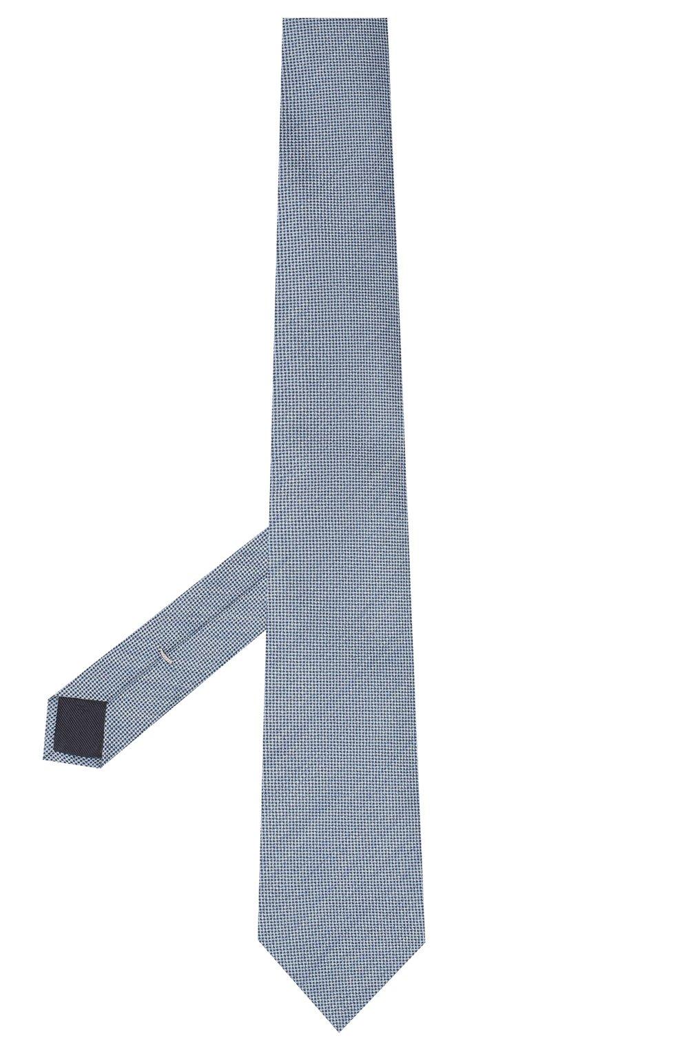 Мужской галстук из шелка и шерсти VAN LAACK голубого цвета, арт. LUIS-EL/K04102 | Фото 2