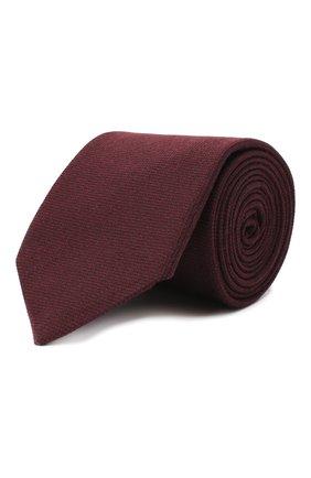 Мужской галстук из шелка и шерсти VAN LAACK бордового цвета, арт. LUIS-EL/K04102   Фото 1 (Материал: Шелк, Шерсть, Текстиль; Принт: Без принта)