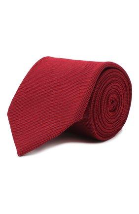 Мужской галстук из шелка и шерсти VAN LAACK красного цвета, арт. LUIS-EL/K04102   Фото 1
