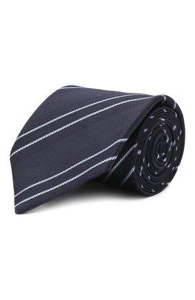 Мужской шелковый галстук VAN LAACK синего цвета, арт. LUIS-EL/K04100 | Фото 1