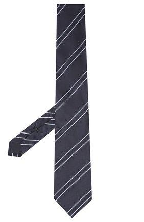 Мужской шелковый галстук VAN LAACK синего цвета, арт. LUIS-EL/K04100 | Фото 2