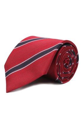 Мужской шелковый галстук VAN LAACK красного цвета, арт. LUIS-EL/K04100   Фото 1