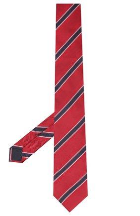 Мужской шелковый галстук VAN LAACK красного цвета, арт. LUIS-EL/K04100   Фото 2