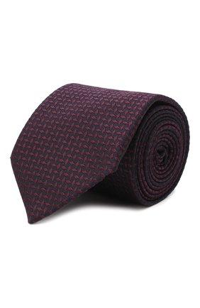 Мужской галстук из шелка и хлопка VAN LAACK фиолетового цвета, арт. LUIS-EL/K04095 | Фото 1