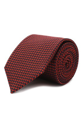 Мужской галстук из шелка и хлопка VAN LAACK красного цвета, арт. LUIS-EL/K04095   Фото 1