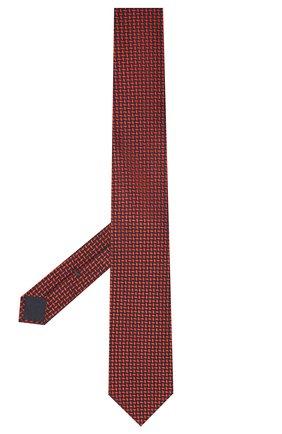 Мужской галстук из шелка и хлопка VAN LAACK красного цвета, арт. LUIS-EL/K04095   Фото 2