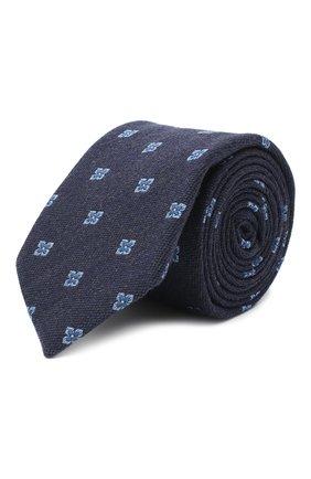 Мужской галстук из шерсти и шелка VAN LAACK синего цвета, арт. LER0Y/K04099 | Фото 1