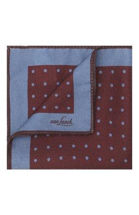 Мужской платок из шерсти и шелка VAN LAACK бордового цвета, арт. LE0N/Z10324   Фото 1