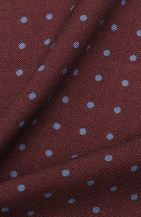 Мужской платок из шерсти и шелка VAN LAACK бордового цвета, арт. LE0N/Z10324   Фото 2