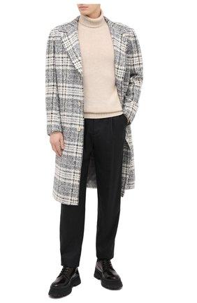 Мужской пальто из шерсти и кашемира KITON серого цвета, арт. US402K01T17 | Фото 2