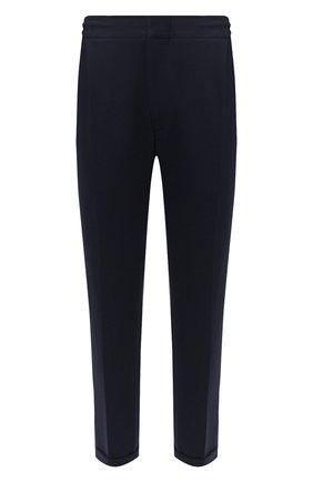 Мужские хлопковые брюки KNT темно-синего цвета, арт. UPS0102J02T31 | Фото 1 (Длина (брюки, джинсы): Стандартные; Материал внешний: Хлопок; Случай: Повседневный; Стили: Кэжуэл)