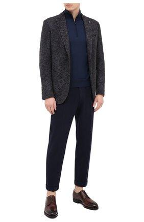 Мужские хлопковые брюки KNT темно-синего цвета, арт. UPS0102J02T31 | Фото 2 (Длина (брюки, джинсы): Стандартные; Материал внешний: Хлопок; Случай: Повседневный; Стили: Кэжуэл)