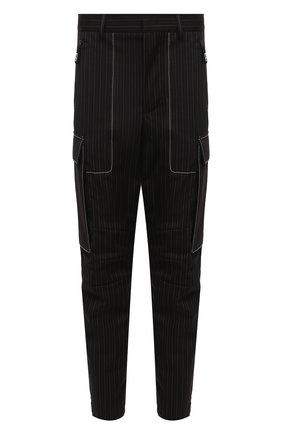 Мужские брюки-карго GIORGIO ARMANI черного цвета, арт. 0WGPP0FC/T0258   Фото 1