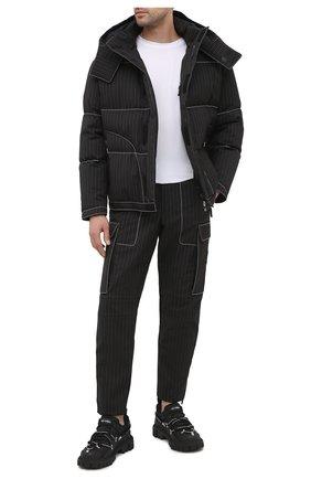 Мужские брюки-карго GIORGIO ARMANI черного цвета, арт. 0WGPP0FC/T0258   Фото 2