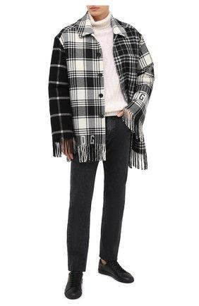 Мужские кожаные кеды andy SAINT LAURENT черного цвета, арт. 630719/0ZSNN   Фото 2