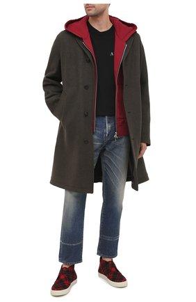 Мужские текстильные кеды ace SAINT LAURENT красного цвета, арт. 630959/1ZC10 | Фото 2