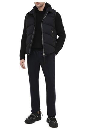 Мужские шерстяные брюки TOM FORD темно-синего цвета, арт. 877R11/63004R | Фото 2