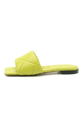 Женские кожаные шлепанцы bv rubber BOTTEGA VENETA светло-зеленого цвета, арт. 639940/VBP30 | Фото 3