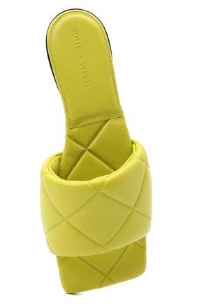 Женские кожаные шлепанцы bv rubber BOTTEGA VENETA светло-зеленого цвета, арт. 639940/VBP30 | Фото 5