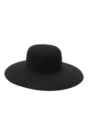 Женская шерстяная шляпа GIORGIO ARMANI черного цвета, арт. 797333/0A520 | Фото 1