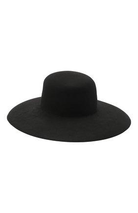 Женская шерстяная шляпа GIORGIO ARMANI черного цвета, арт. 797333/0A520 | Фото 2