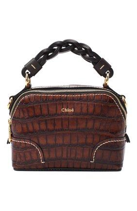 Женская сумка daria mini CHLOÉ темно-коричневого цвета, арт. CHC20WS362D49   Фото 1