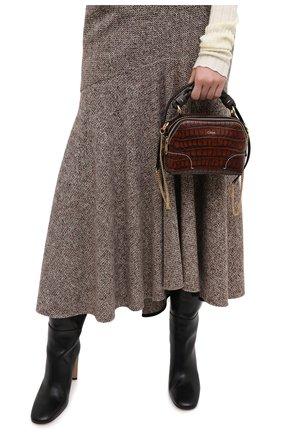 Женская сумка daria mini CHLOÉ темно-коричневого цвета, арт. CHC20WS362D49   Фото 2