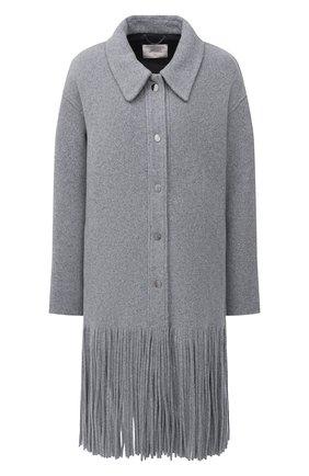 Женское шерстяное пальто DOROTHEE SCHUMACHER серого цвета, арт. 946001/ALL AB0UT FRINGE | Фото 1
