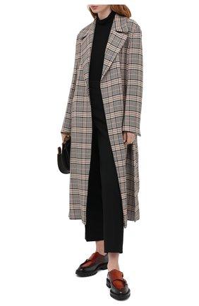 Женская кожаные монки SANTONI коричневого цвета, арт. WUCR59017HL1N0L0U80 | Фото 2